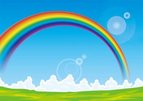 Takahara Rainbow blue sky