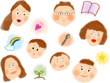 Various face sets