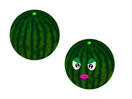 Anthropomorphization of watermelon and watermelon