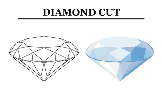 Cut Diagram of Diamond (Side View) 【2】