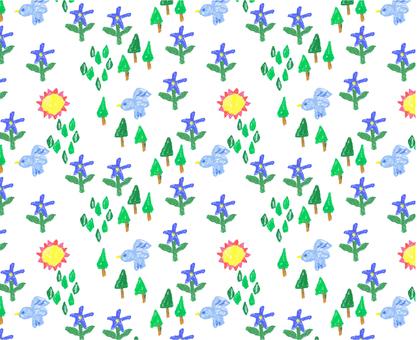Crayon-style pattern 2