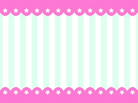 Cherry blossom frame pink