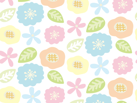 Flower background material pattern
