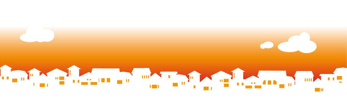 Housing silhouette at dusk