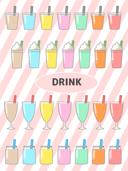 Drink menu colorful