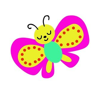 Butterfly with pink border