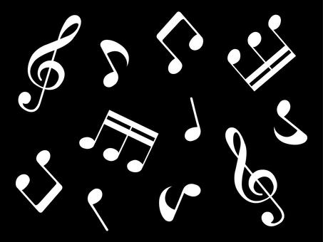 Music note set 1 black