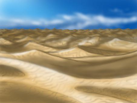 Desert background illustration