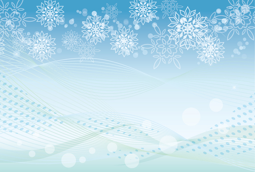Snow frame background blue
