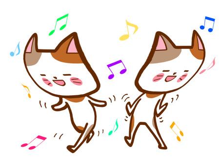 歌って踊る体操猫さん