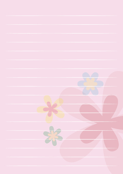 레터 용지 세로 핑크 꽃