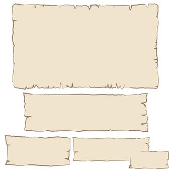 紙切れ風フレームセット