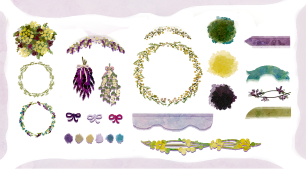 【Flower · Frame】 Set