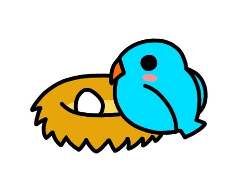 Bird's nest blue