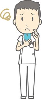 Male nurse - suffering trouble - whole body
