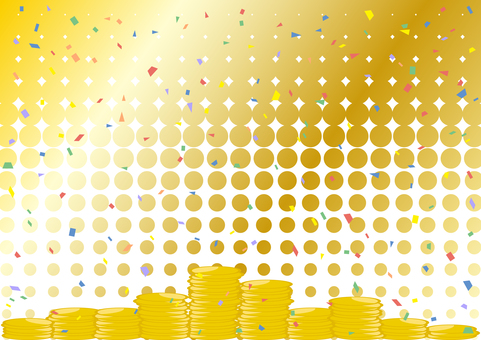 Coins confetti dot background