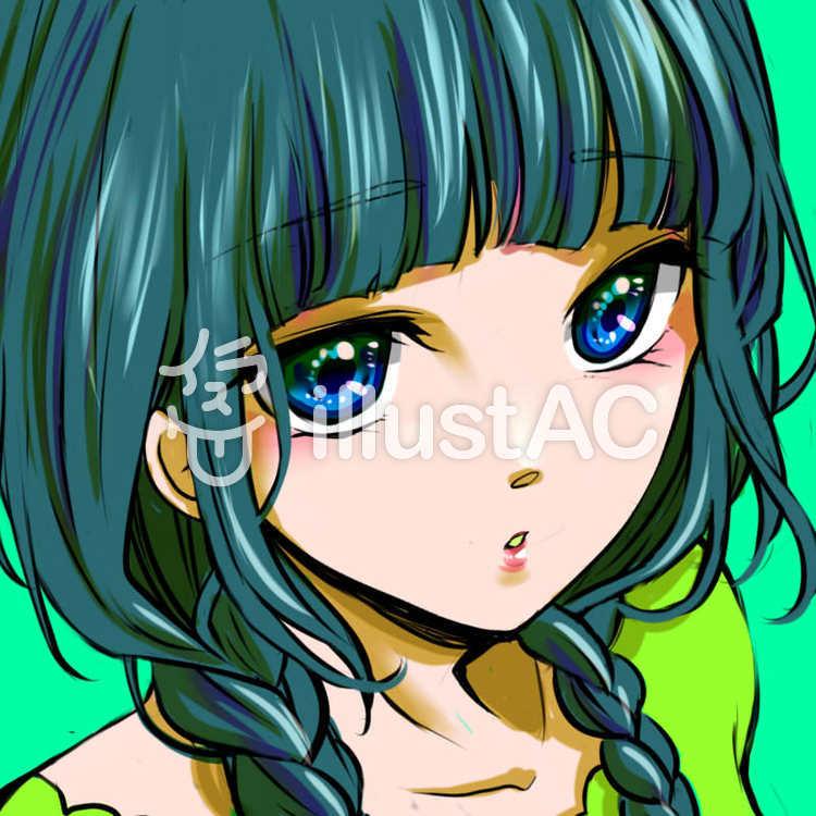 女の子アイコンイラスト No 1054572無料イラストならイラストac