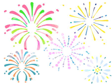 Various fireworks