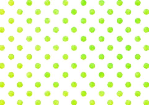 Watercolor dot polka dots texture · yellow green