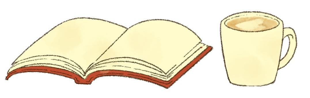 本とカフェラテ