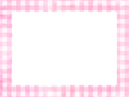 Watercolor check pattern frame pink