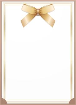 ai Invitation card · letter · frame · beige 2
