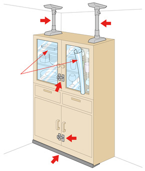Earthquake resistance measures for furniture in the event of an earthquake