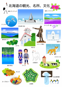 Hokkaido attractions, culture and materials