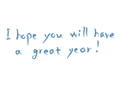 New Year's greetings English letters