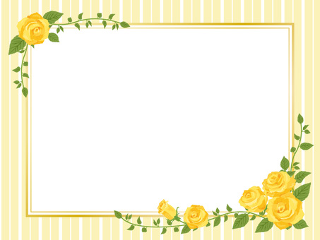 Yellow Rose picture frame style frame decorative frame 01