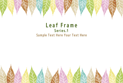 Colorful leaf frame 1