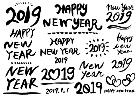2019 Handwriting Character Set