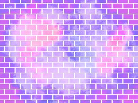 磚水彩背景003紫色