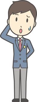 高校生ブレザー男性-018-全身