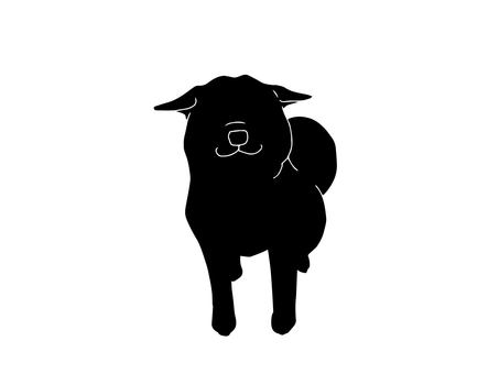 Airplane ear dog (silhouette)