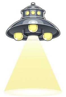 UFO launching tractor beam