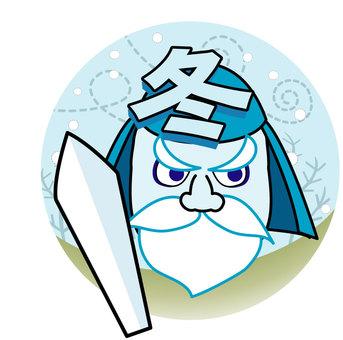 冬将軍のイラスト01