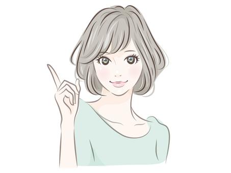 손가락을 바른다 여성