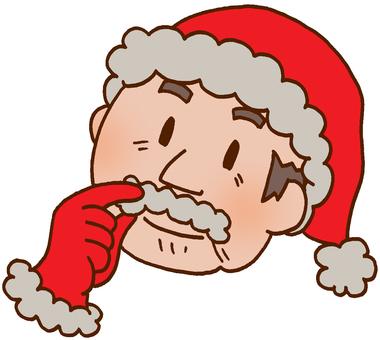 Disguise grandpa in Santa