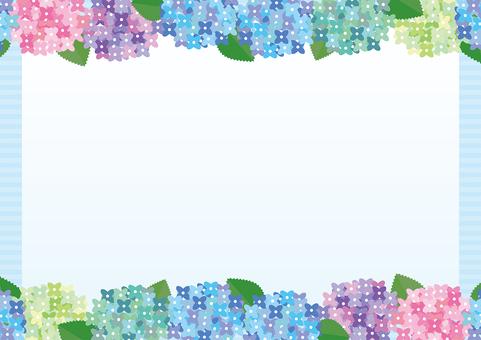 七彩繡球框架(卡)