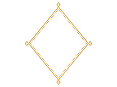 簡單的裝飾框菱形