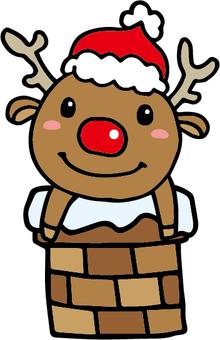Reindeer from chimney