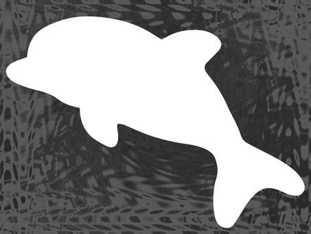 Dolphin ink background