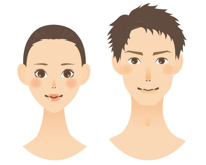 Beauty illustration men and women