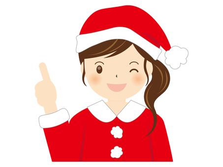 Girl Santa A-004