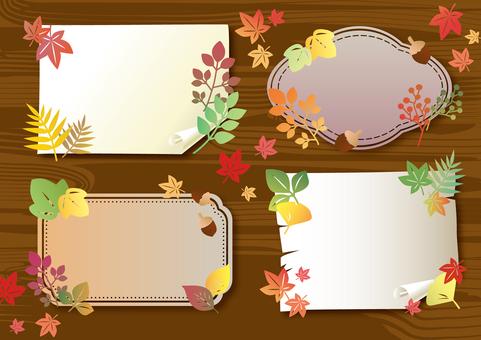 Autumn leaf memo set