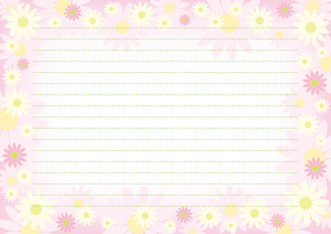 Letter pad 17 flowers