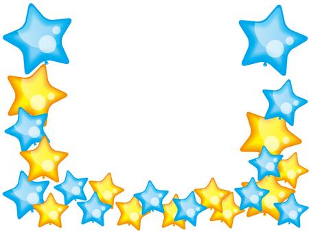 Cute star balloon illustration frame