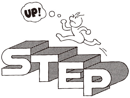 People who climb stairs / self-development (STEP UP)