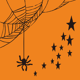 Halloween spiders and stars